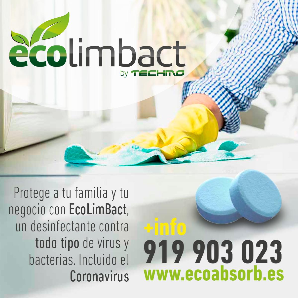ecolimbact - desinfectante contra todo tipo de virus y bacterias